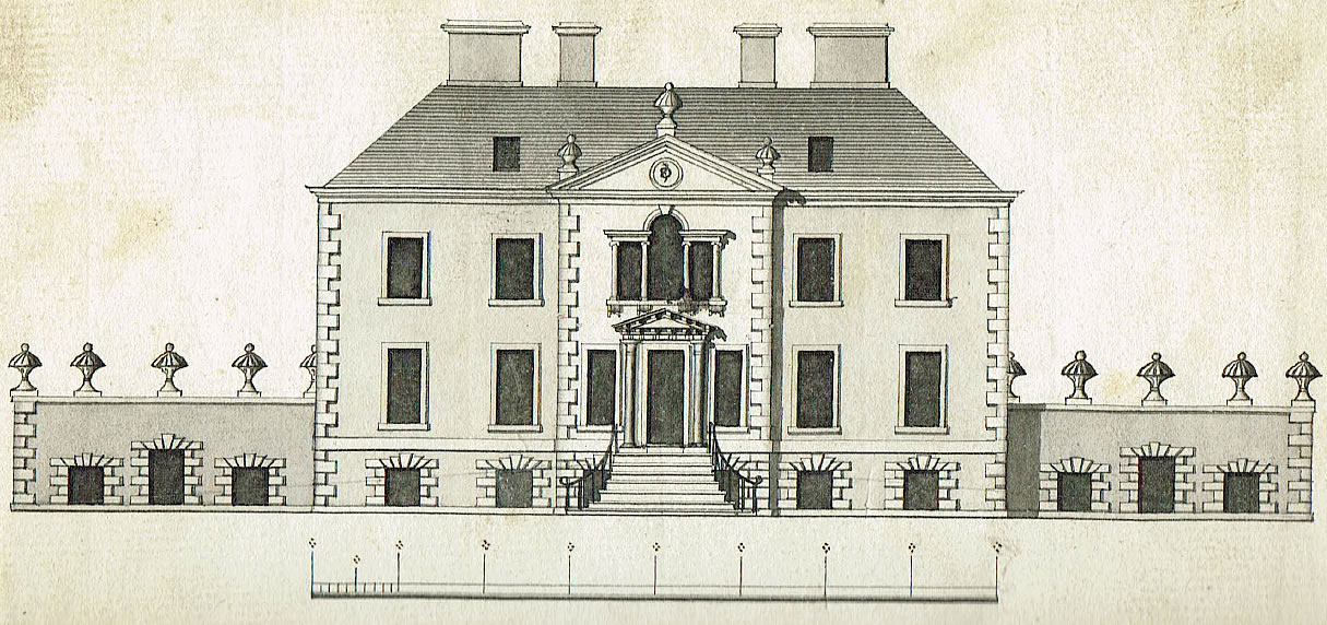 Original plan drawing of Torwoodlee House